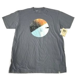 Reef Charts of the Sea Charcoal T-Shirt NWT XL